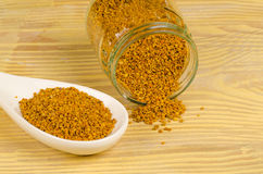 Healthy bee pollen Royalty Free Stock Image