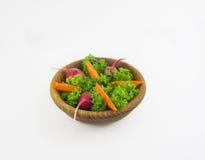 Healthy beet carrot radish salad on white plate Royalty Free Stock Photos
