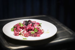 Healthy beetroot and sour cream salad Royalty Free Stock Photo