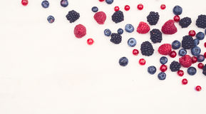 Healthy berries hero header Stock Image