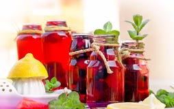 Healthy beverage - berry juice Stock Photos