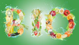 Healthy Bio food for wellness Stock Image