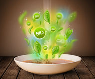 Healthy bio green plate of food Royalty Free Stock Photo