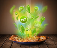 Healthy bio green plate of food Stock Photography