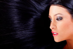 Healthy black hair Royalty Free Stock Photography