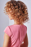 Healthy Blond Wavy hair Royalty Free Stock Photography