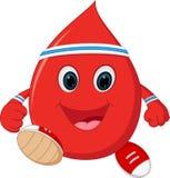 Healthy Blood cartoon running Royalty Free Stock Photo