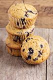 Healthy blueberry banana muffins Stock Image