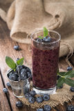 Healthy Blueberry Shake Royalty Free Stock Photos