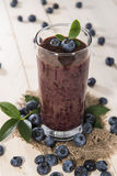 Healthy Blueberry Shake Stock Image