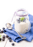 Healthy blueberry smoothie drink Royalty Free Stock Photography
