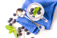 Healthy blueberry smoothie drink Stock Image