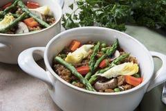 Healthy Bowl of Paella Stock Photos