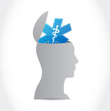 Healthy brain illustration design Stock Photo