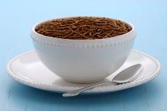 Healthy bran cereal breakfast Royalty Free Stock Photos