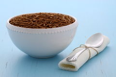 Healthy bran cereal breakfast Royalty Free Stock Image