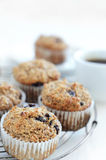 Healthy bran muffin with coffee Royalty Free Stock Photography