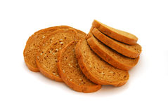 Healthy Bread. Healthy sliced bread isolated on a white background Royalty Free Stock Photo