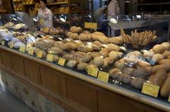 Healthy bread bakery. Freshly baked bread for sale in Granville Island Public Market Stock Photo