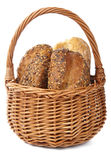 Healthy bread in basket  Royalty Free Stock Photos