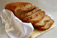 Healthy Bread With Flax Seed Stock Photography