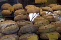 Healthy bread. Freshly baked bread for sale in Granville Island Public Market Royalty Free Stock Photo
