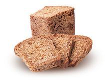 Healthy bread from sprouted grain cut in half and slice stock photos