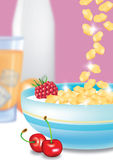 Healthy Breakfast. Illustration of a well laid breakfast table Stock Photo