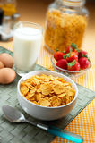Healthy breakfast. Preparation of a healthy breakfast for a good start to the day Royalty Free Stock Photo
