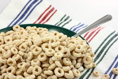 Healthy Breakfast. A big bowl of heart healthy breakfast cereal o's Royalty Free Stock Images