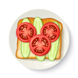 Healthy Breakfast Appetizing Top View Image Royalty Free Stock Image