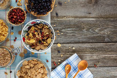 Healthy breakfast with berries and muesli Stock Image