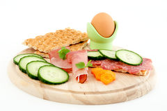 Healthy Breakfast on board Stock Images