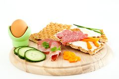 Healthy Breakfast on board Royalty Free Stock Photo