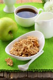 Healthy breakfast - bowl of cornflakes Royalty Free Stock Photo