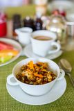 Healthy breakfast bowl Royalty Free Stock Images