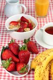 Healthy breakfast with cereal and fresh fruit Stock Photo