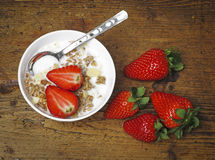 Healthy breakfast - cereal with fruit Stock Images