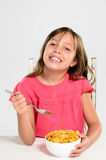 Healthy breakfast cereal for growing child Royalty Free Stock Image