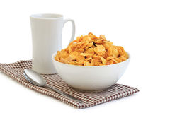 Healthy breakfast. With cereal and milk Royalty Free Stock Images