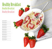 Cereal with strawberries Stock Images