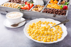 Healthy breakfast with coffee and cereals Royalty Free Stock Images