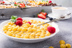 Healthy breakfast with coffee and cereals Royalty Free Stock Photo