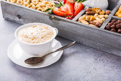 Healthy breakfast with coffee and cereals Stock Photography