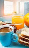 Healthy breakfast with coffee Stock Image