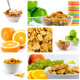 Healthy breakfast collection Royalty Free Stock Photos