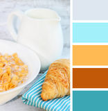 Healthy breakfast. color palette swatches Royalty Free Stock Photos