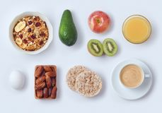 Healthy breakfast concept Stock Photo