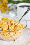 Healthy breakfast with corn flakes Royalty Free Stock Images