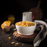 Healthy breakfast with corn flakes Royalty Free Stock Image